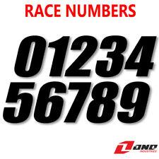 "One Industries Motocross números de Bicicleta de Carrera Negro Estilo SX 4"" 6"" 7"" (paquete de 3)"