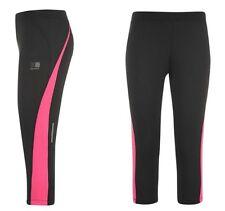 Karrimor Damen Lauf Jogging Hose Tight Capri 3/4 Schwarz Pink alle Größen Neu