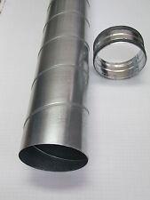 Wickelfalzrohrset Rohr 1,2m+Nippel NW100/125/150/160/200/225/250/300mm