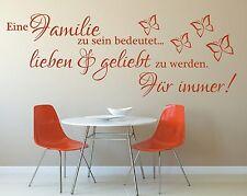 X368 Wandtattoo Spruch / Eine Familie lieben geliebt Wandsticker Wandaufkleber 1