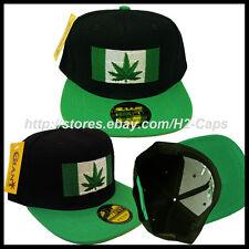 420 POT LEAF FLAG Dope Snapback Hat MARIJUANA 4:20 Snap Back