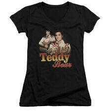 Elvis Teddy Bear Juniors V-Neck Shirt