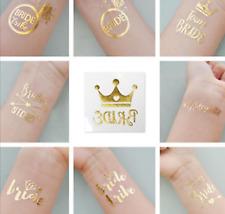 Bride Team Tribe - Flash Night Party Bride Tattoo Sticker Metallic Glow Tattoos