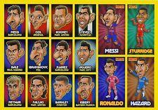 2015 Match! Magazine Caricatures - Individual Stickers
