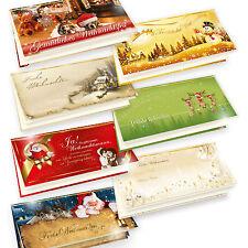 Weihnachtskarten Set hochwertig 7 Motive zur Wahl 10-100 Sets, selbst bedrucken