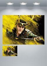 Loki Vengadores Thor gran póster de la película impresión de arte