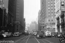 Photo New York Etats Unis Broadway tram tramway - tirage repro 1938