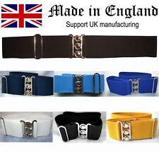 Nurses Belt Elastic UK MADE Quality Black White Navy Hospital Blue Royal Yellow