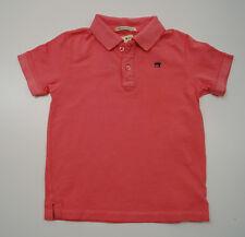 SCOTCH SHRUNK Boys Pinky Coral Short Sleeve Buttoned Collar Polo Shirt Top BNWT