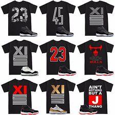 Space Jam 11 Retro 11 XI 23 Varsity Bred T Shirt to match with Air Jordan Shoes