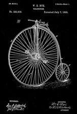 1885 - Velocipede - W. E. Nye - Patent Art Poster
