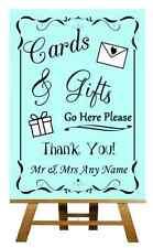 Aqua Cards & Gifts tabella personalizzata Nozze segno / POSTER
