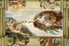Michaelangelo Creation Of Adam Wall Art Mural Ceiling Wall Paper Adhesive Vinyl