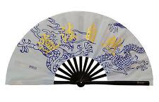China Tai Chi Kung fu martial art dance Show MMA Bamboo bone dragon pattern Fan