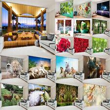 3D 2 Panels Blockout Drapes Fabric Digital Printing Window Curtain Mural Decor A
