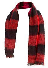 New HOT Mens White Black Red Purple Check Design Warm Neck Winter Snow SCARF