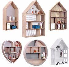 Meuble de rangement craft mur flottante cube affichage de stockage étagère en bois en forme de maison