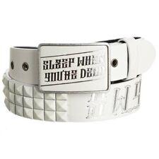 Lowlife SWYD Leather Belt in White