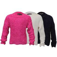 Filles Câble Pull Tricoté Enfants Pull Love Knitwear Ras de Cou Hiver