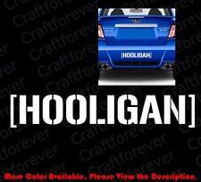 Die Cut Hooligan Banner Vinyl Decal Sticker Mopar Drift Mustang Subaru Rc063
