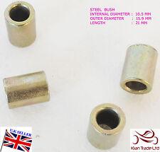 10mm I/D BZP Steel 15.9 mm O/D washer /21 mm Long  spacer / sleeve bush