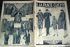 """CATALOGUE MODE """"A LA PLACE CLICHY"""" 1929 - 1930"""