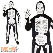 3-D Skeleton Halloween Mens Fancy Dress Party Costume