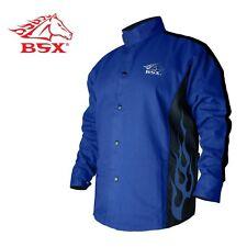 Revco BSX BXRB9C Blue FR Welding Jacket Blue Flames Large XL 2XL 3XL Med Small