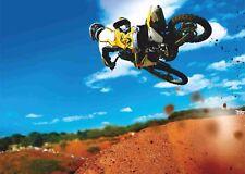 Sports extrêmes Poster 12-Dirt bike-A4 & A3