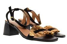 Gioseppo scarpe donna sandali tacco basso 45301 NERO/ORO P18