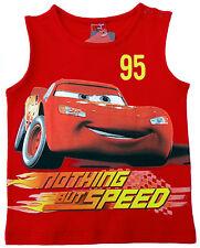 NEU!! Disney Cars Lightning MCQUEEN Tanktop T-Shirt Shirt Pulli rot 80 86 92