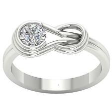 Solitaire Engagement Ring I1 H 0.60Ct Genuine Diamond 14Kt Solid Gold Bezel Set