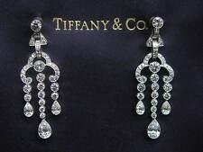 Tiffany & Co Platinum Legacy Multi Shape Diamond Triple Drop Earrings 3.90CT