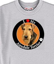 Dog T Shirt - I Love My Airedale - Cat Puppy Adopt Animal Cat Men Women # 84