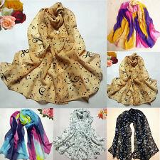 Ladies Musical Note Chiffon Neck Womens Scarf Wrap Shawl Stole Muffler Scarves