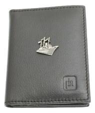 Ocean Liner Black Or Blue Real Leather Bifold Card Holder and Wallet Gift 425