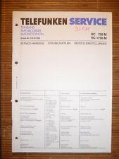 Service Manual für Telefunken HC 750 M/HC 1750 M,ORIGINAL