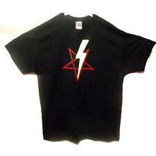 Lighting bolt pentagram t shirt satanism satanic shirts small to 2 extra large