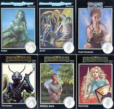 DONJONS & DRAGONS 6 Cartes Neuves de 1992 (DUNGEONS) Lot N° 041