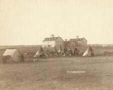 US school at the Pine Ridge Agency in South Dakota 1891 Photo Print