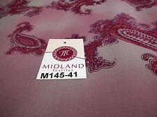 """Pink paisley imprimé mousseline robe tissu 45"""" M145-41 Mtex"""