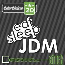 "Eat Sleep JDM Logo - 7"" x 5.4"" - Vinyl Decal Sticker Japan Import Car Tuner"