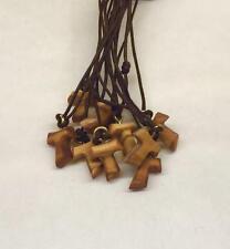Tau mignon lotti da 30 a 150pz in legno di ulivo,croce di San Francesco