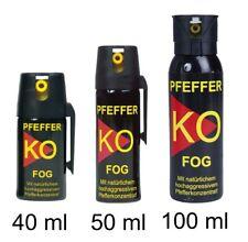 NEU Pfefferspray FOG Ballistol K.O. Sprühnebel 40, 50, 100 ml Tierabwehr Reizgas