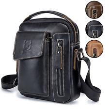 Mens Leather Business Messenger Bag Vintage Crossbody Handbag Casual Briefcase
