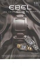 PUBLICITE ADVERTISING  2011  EBEL la nouvelle montre BRASILIA