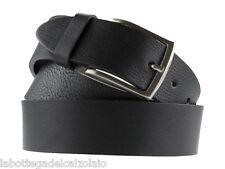 Cintura in cuoio casual artigianale nero uomo donna made in Italy