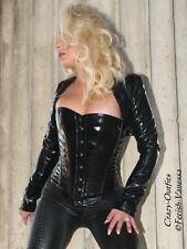 Lackbolero verni veste bolero noir brillant vinyle taille 32 - 58 xs-xxxl