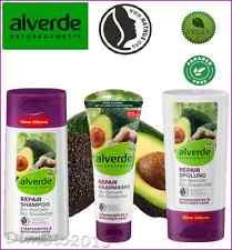 REPAIR HAIR SHAMPOO CONDITIONER HAIR MASK Alverde Vegan Organic Avocado &Keratin