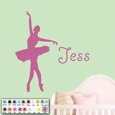 Personalizado Girl Nombre Bailarina Adhesivo Pared Danza Ballet Baile
